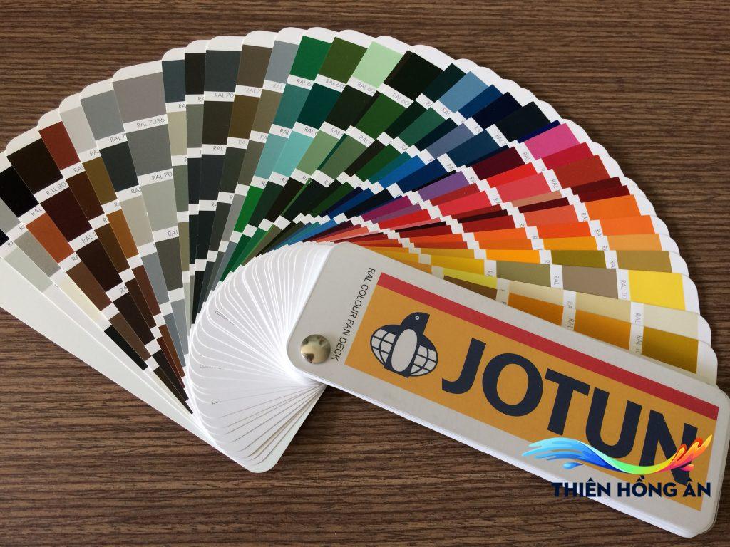 Bảng màu hệ thống sơn jotun ral 213 màu