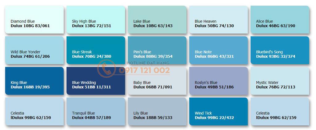 Sơn dulux tone màu xanh dương