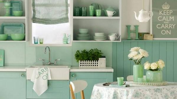 Bạn cũng có thể mang sắc xanh bạc hà này vào nhà qua những món nội thất